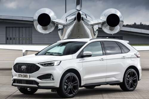 Ford Edge 2018 Facelift Frontperspektive