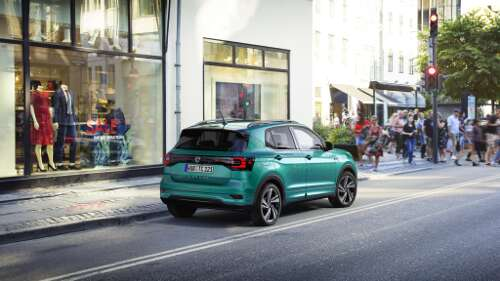 VW T-Cross Exterieur Heckperspektive